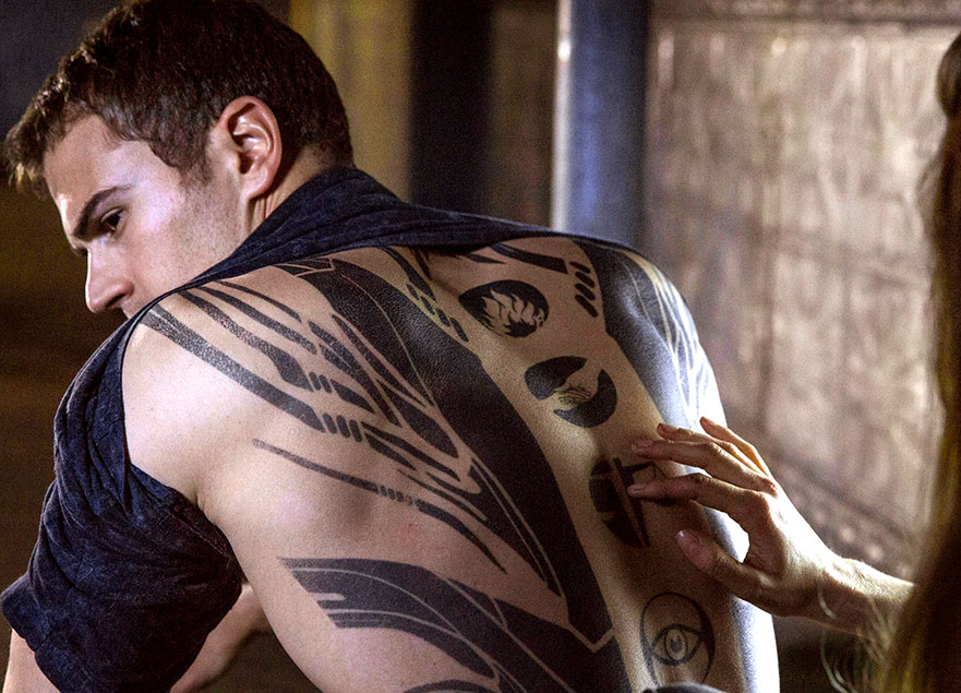 New Clip: Theo James Talks DIVERGENT Back Tattoo! Horns Movie Poster