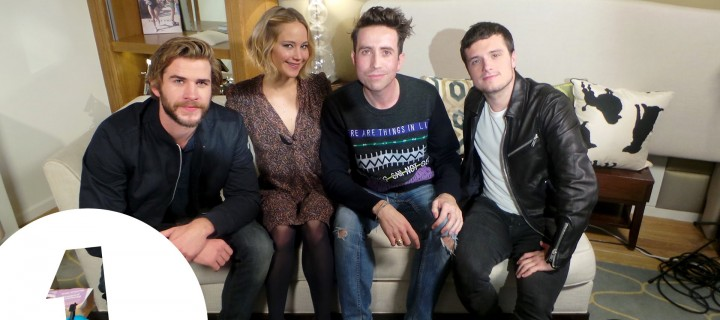 Jennifer Lawrence, Josh Hutcherson, and Liam Hemsworth Talk 'Mockingjay Part 1' With Nick Grimshaw