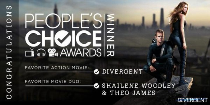 Book to Movie Adaptations Have a Big Night at 2015 People's Choice Awards