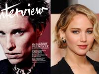 Jennifer Lawrence Interviews Eddie Redmayne for Interview Magazine!