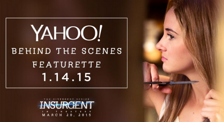 """See Tris' """"Insurgent"""" Transformation With a Behind the Scenes Featurette on Yahoo January 14th!"""