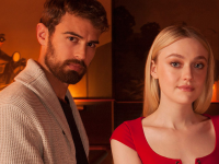 Theo James and Dakota Fanning Vanity Fair Portrait from Tribeca Film Festival